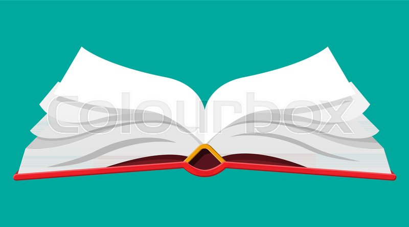 Open Book With An Upside Down Pages Reading Education E Book