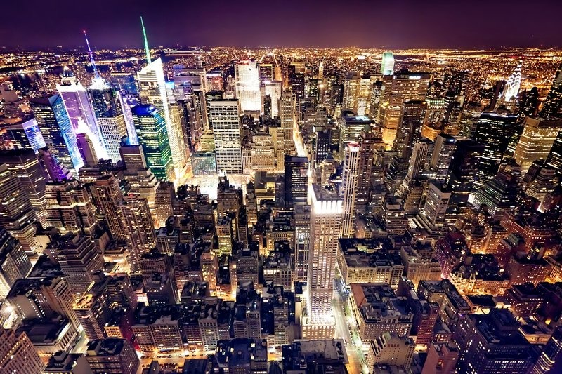 View of manhattan from the empire state building new york city usa
