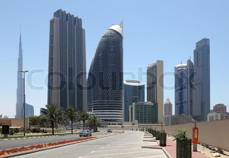 City Street In Dubai United Arab Emirates Stock Photo