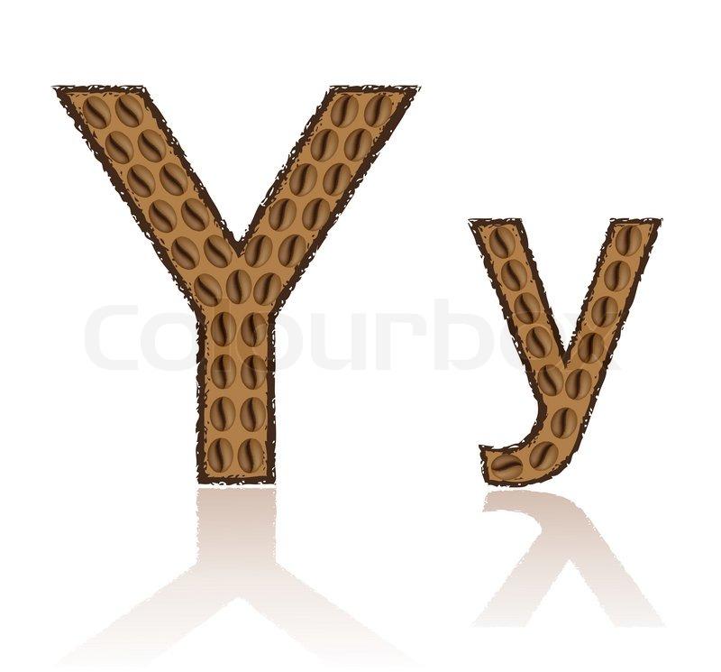 buchstaben y alphabet vector illustration schriftlich zeichnung lesen und schreiben abc lernen. Black Bedroom Furniture Sets. Home Design Ideas