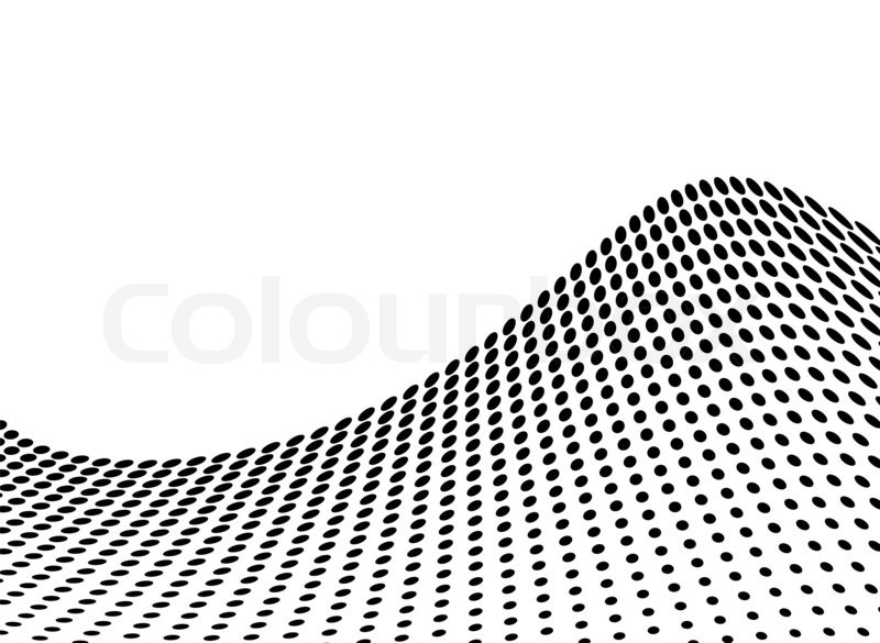 Wave Abstract Design In Stark Black And White With Copy Space | Stock Photo  | Colourbox