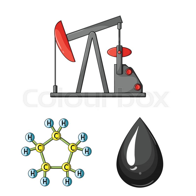 Oil Industry Cartoon Icons In Set Collection For Design Equipment
