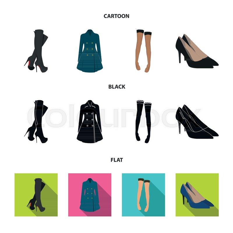Blank High Heels Shoe Template. Stock Vector Illustration