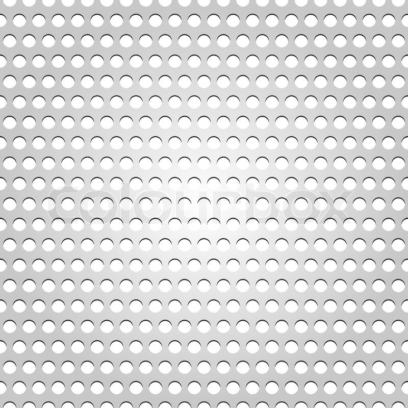 Seamless Metal Surface Gray Background Perforated Texture