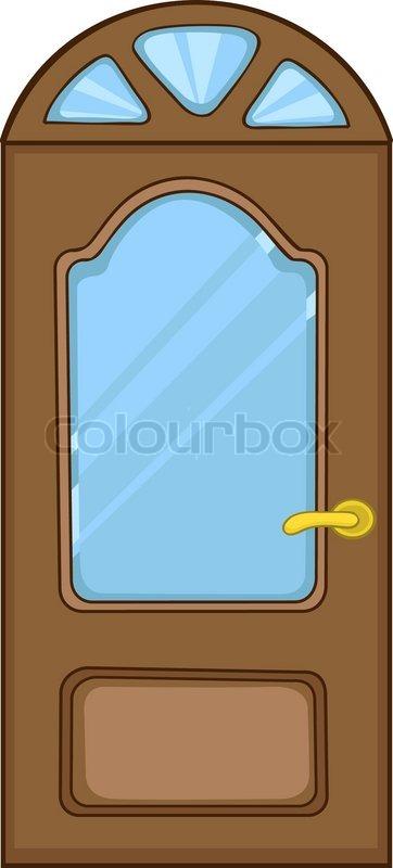 Cartoon Home Door Isolated on White Background | Stock Vector | Colourbox  sc 1 st  Colourbox & Cartoon Home Door Isolated on White Background | Stock Vector ... pezcame.com
