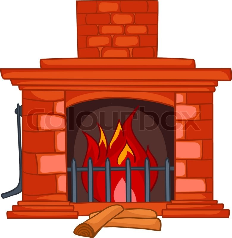 Cartoon Home Fireplace Isolated on ... | Stock Vector ...