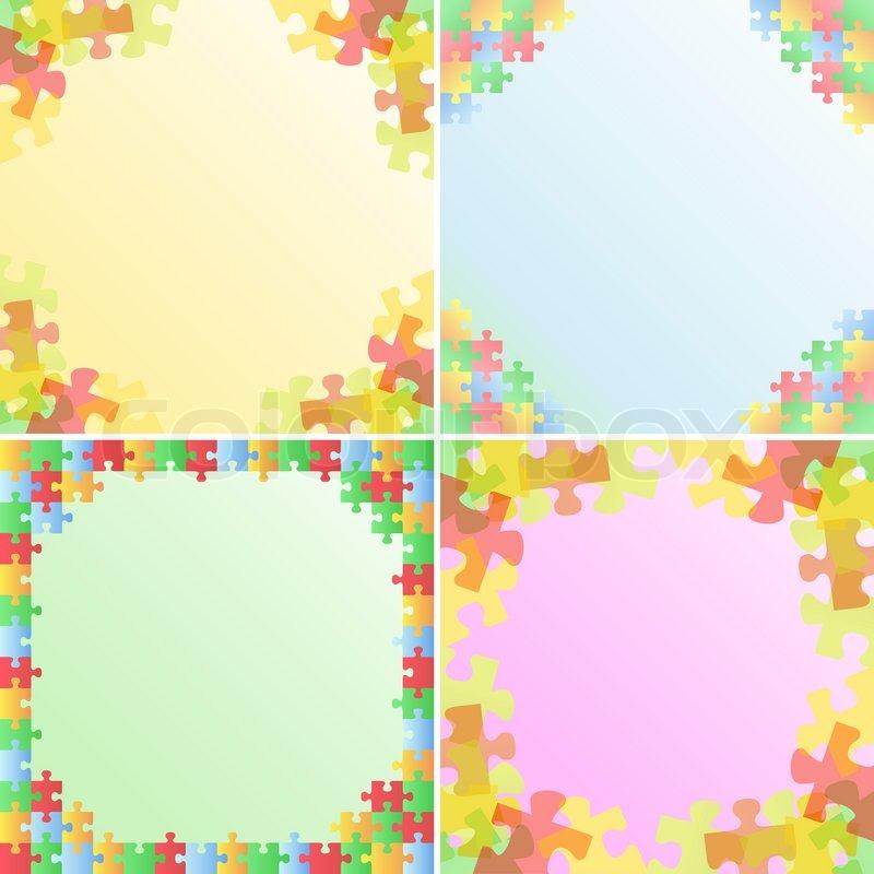Puzzle-Rahmen   Vektorgrafik   Colourbox