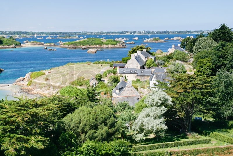 view on archipelago brehat and ile de brehat in brittany france stock photo colourbox. Black Bedroom Furniture Sets. Home Design Ideas