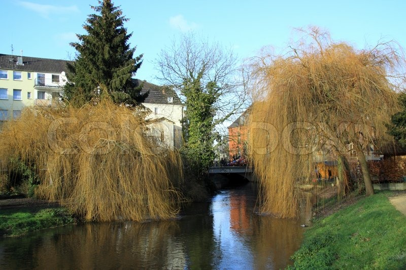 Small City Goch in Germany, stock photo