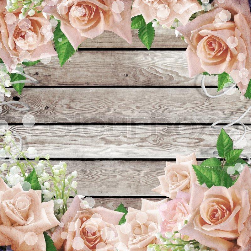 Wedding Vintage Romantic Background Stock Photo Colourbox