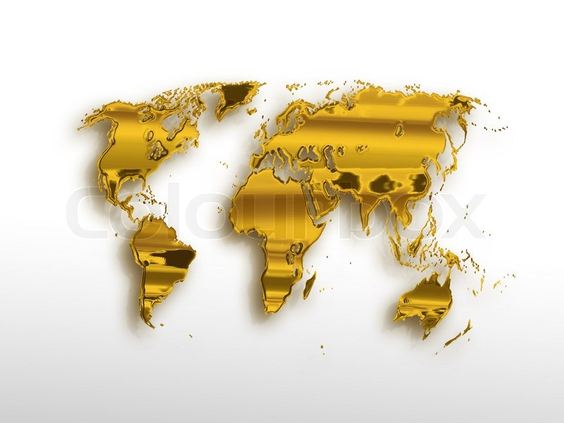 Golden world map on a light background stock photo colourbox sciox Image collections