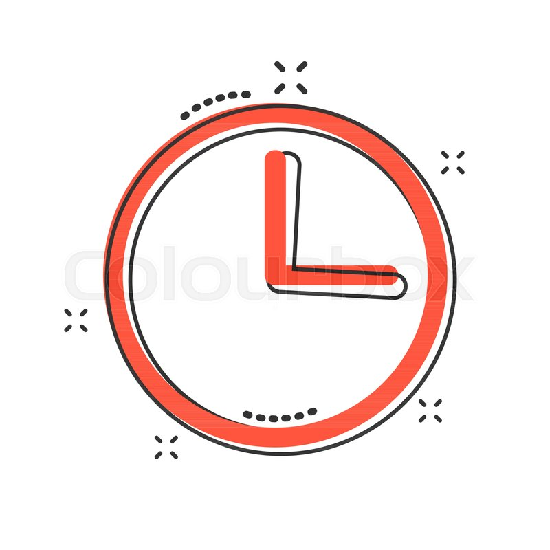 Vector cartoon clock timer icon in     | Stock vector