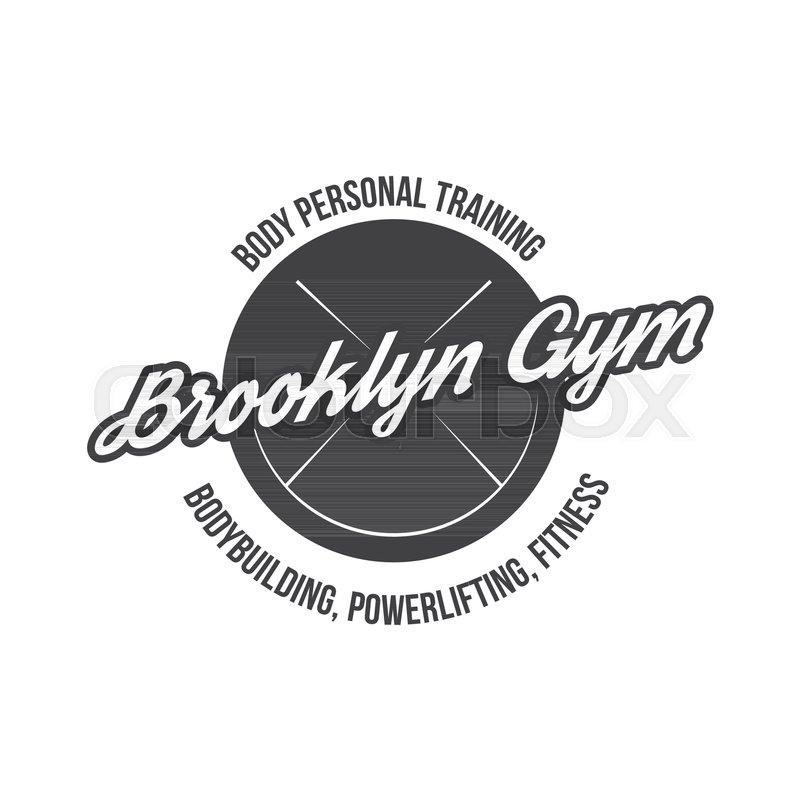 bodybuilding powerlifting kettlebell workout fitness logo template gym club logotype bodybuilder sportsman fitness model illustration sign symbol