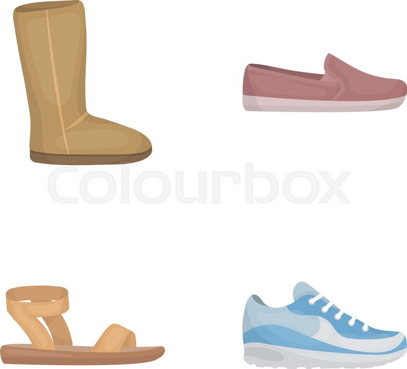 262e2ff070a Beige ugg boots with fur, brown ... | Stock vector | Colourbox