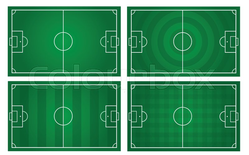 Vector Of Football Pitch Template With Stock Vector Colourbox