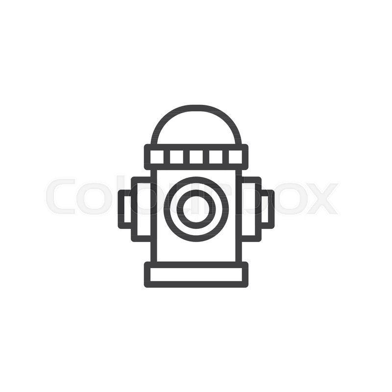Fire Hydrant Outline Icon Linear Style Sign For Mobile Concept And