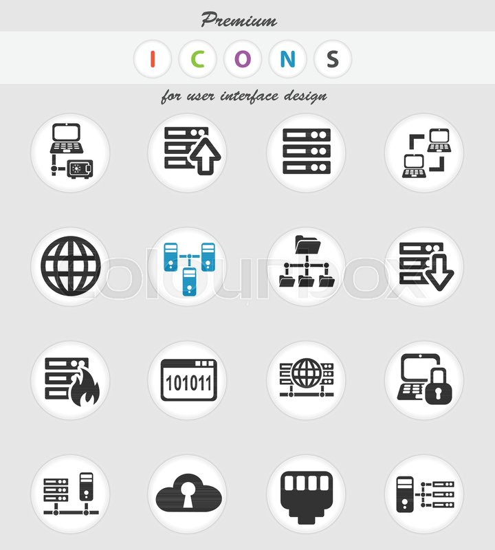 Server web icons for user interface       Stock vector