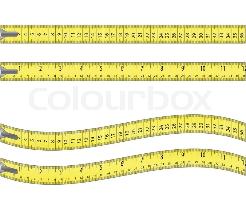 Tape measure isolated on white | Stock Vector | Colourbox