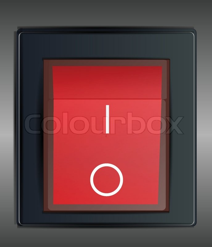 On Off Switch Stock Vector Colourbox