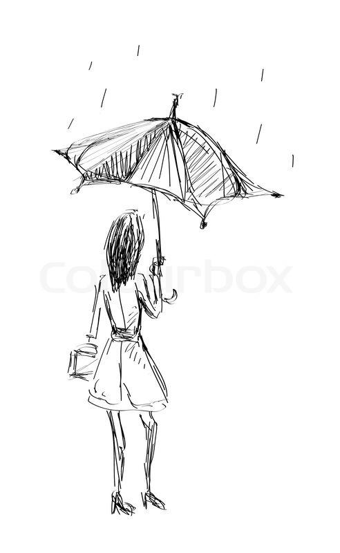 Clipart Black And White Umbrella