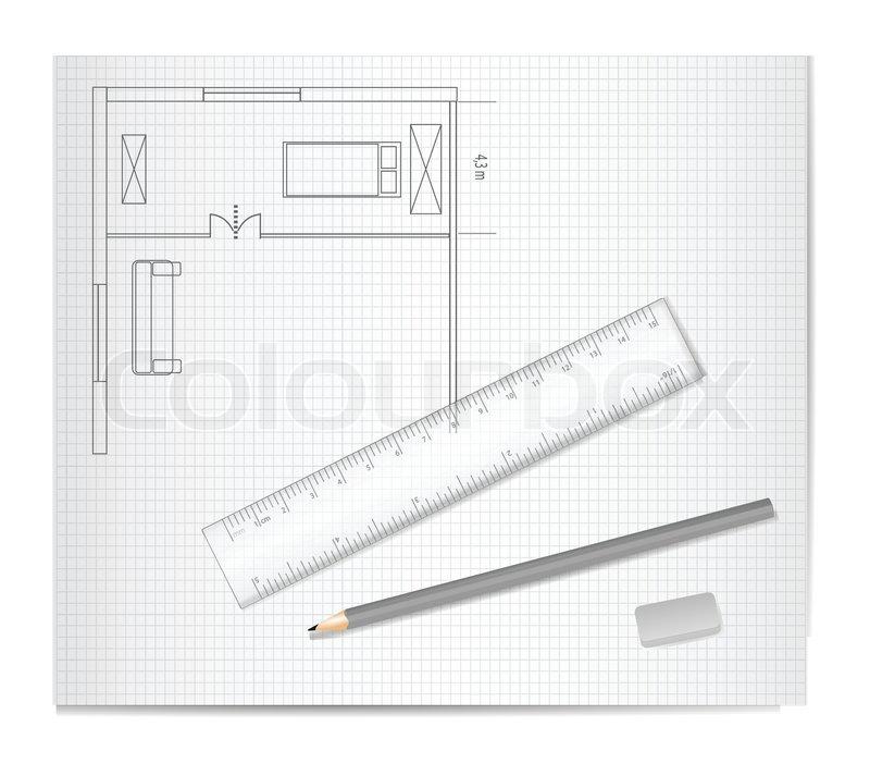 Zeichnen architektur sketch vektorgrafik colourbox - Architektur zeichnen ...