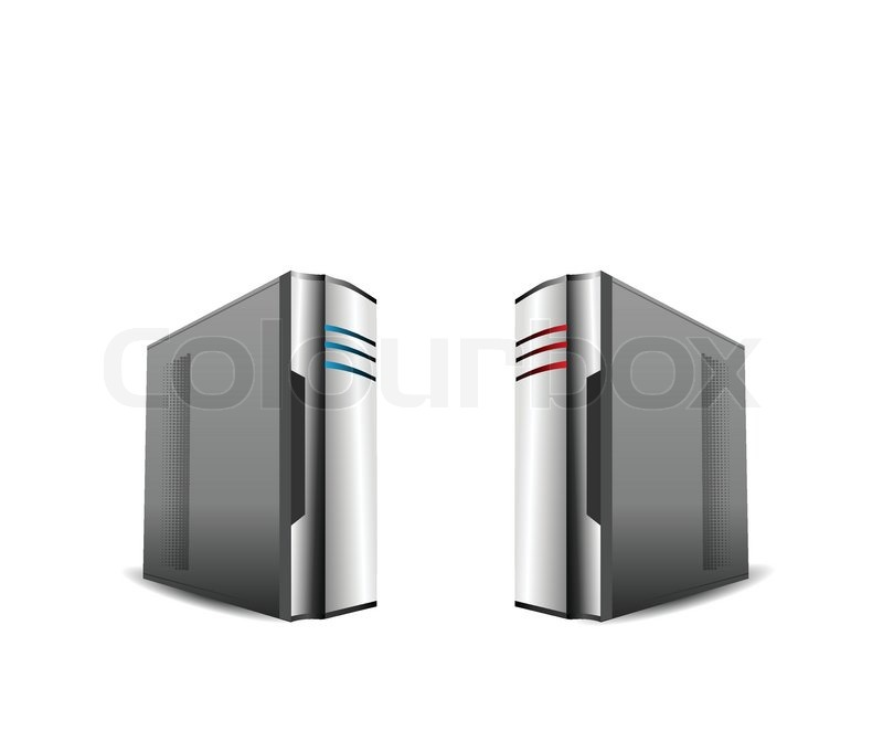 Stock vector of 'Computer Servers Isolated on White'