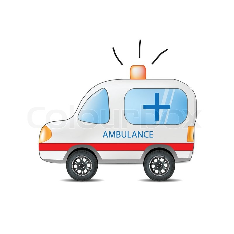 Funny Cartoon Ambulance Stock Vector Colourbox