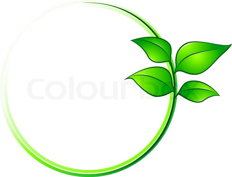 Environment Frame With Green Leaves For Ecology Design