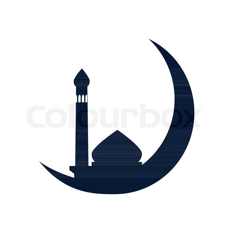 crescent moon mosque vector stock vector colourbox crescent moon mosque vector stock