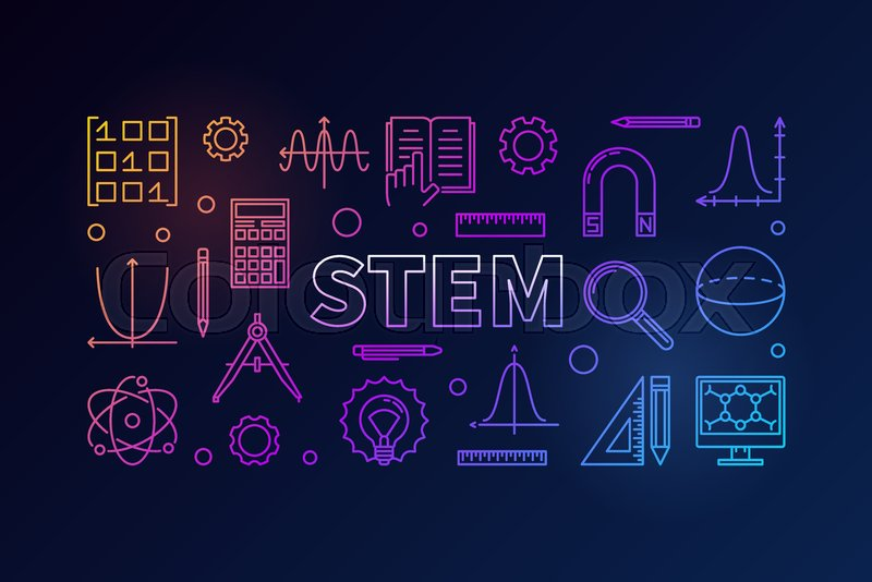 stem creative colored banner in
