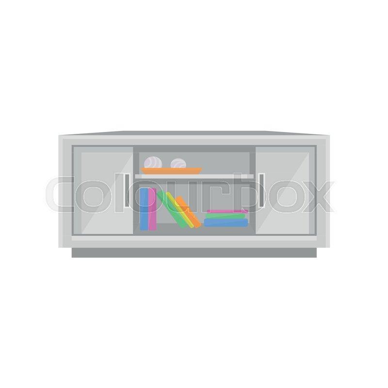TV table, interior design element     | Stock vector | Colourbox