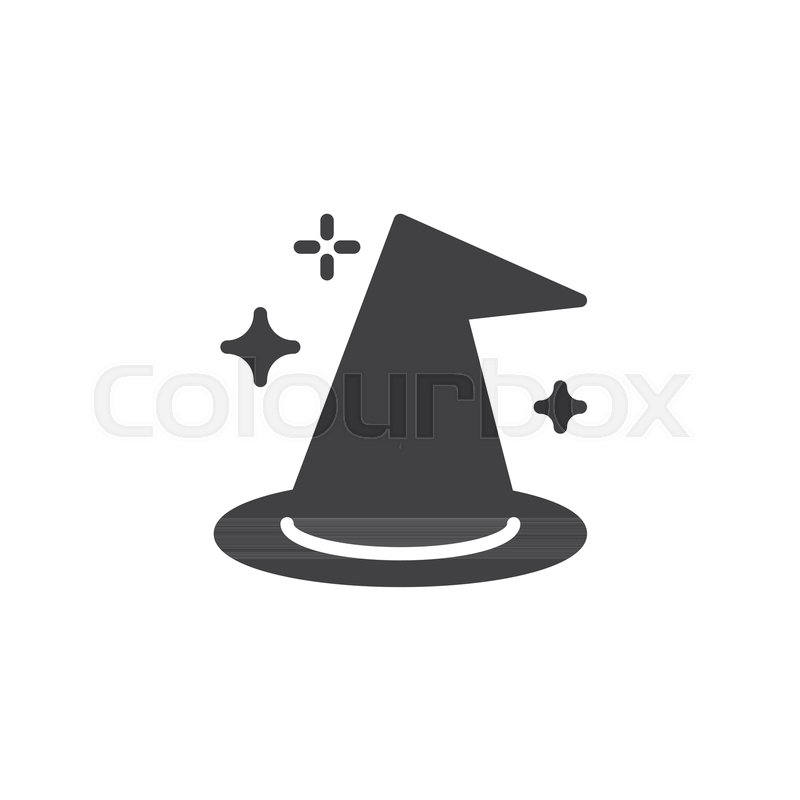 Witch Hat Vector Icon Filled Flat Stock Vector Colourbox