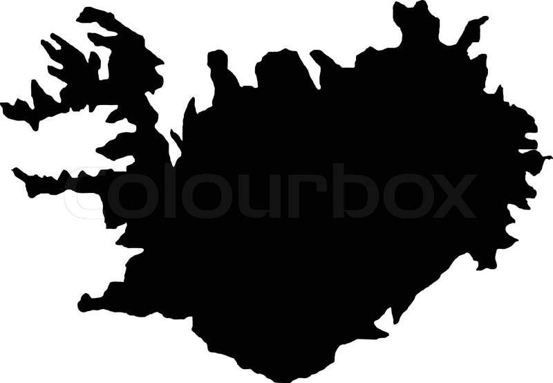 Vector illustration of maps of Iceland | Stock vector | Colourbox