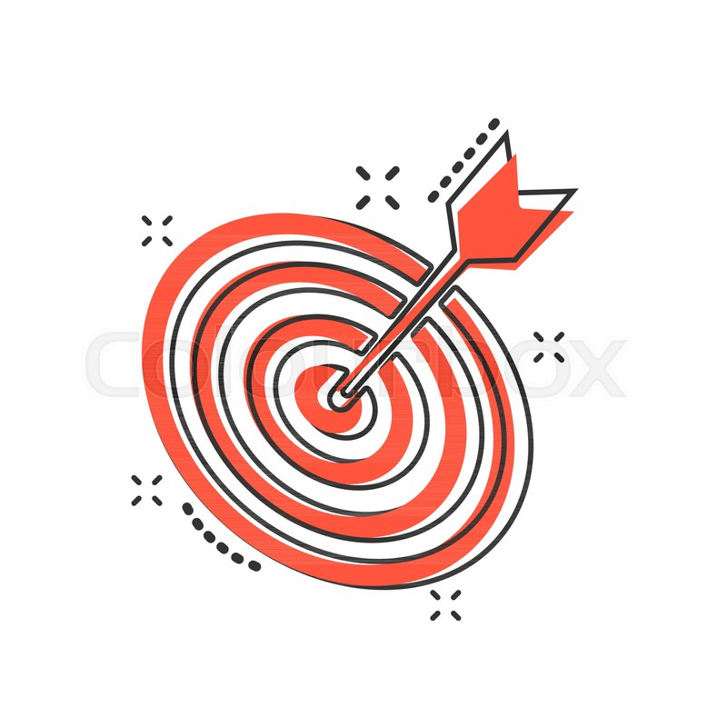 vector cartoon target aim icon in stock vector colourbox vector cartoon target aim icon in