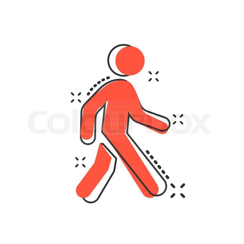vector cartoon walking man icon in stock vector colourbox vector cartoon walking man icon in