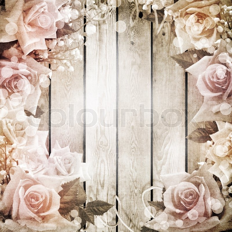 Wedding Vintage Romantic Background Stock Photo Colourbox