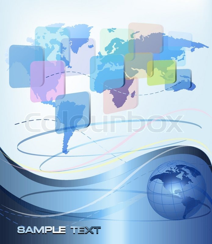 Business abstract background with world map vector illustration business abstract background with world map vector illustration vector gumiabroncs Choice Image