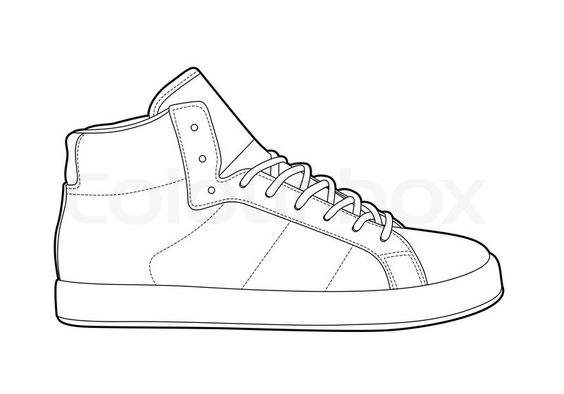 Gallery images and information: Blank Sneaker Outline