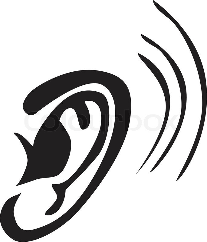 Listen Ear Icon Ear Listen Vector