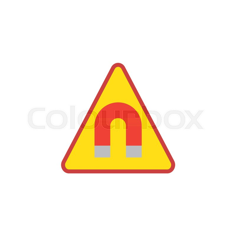 Strong Magnetic Field Flat Icon Vector Sign Colorful Pictogram