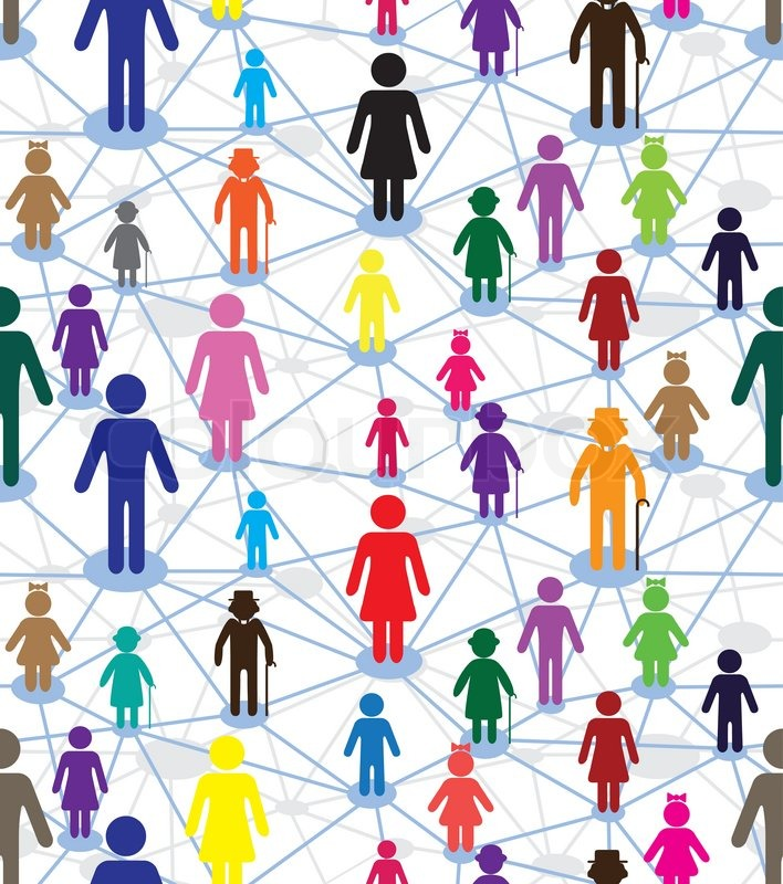 relationship network crowd family wallpaper stock vector colourbox