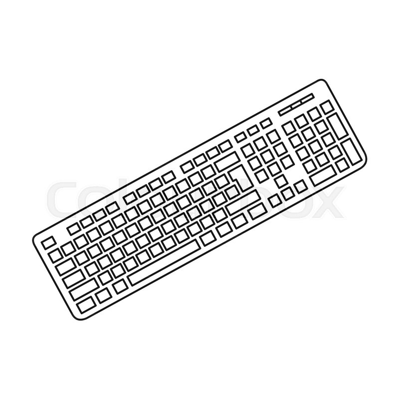 keyboard icon in outline style