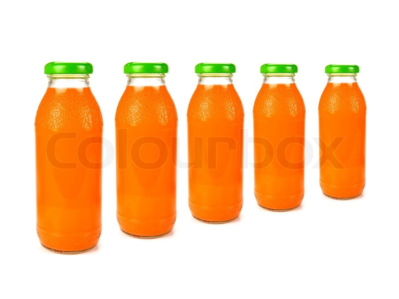 Cartoon Juice Bottle Bottles of Orange Juice