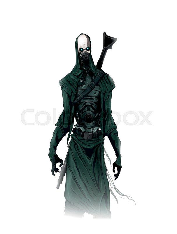 Sci Fi Cyborg Concept Art