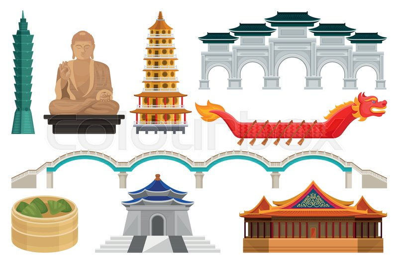 Set of Taiwan national cultural     | Stock vector | Colourbox