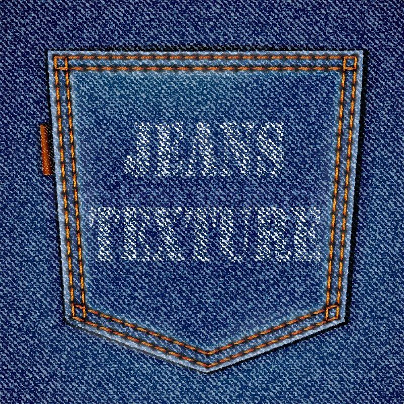 Jeans Back Pocket Texture Back jeans pocket on r...
