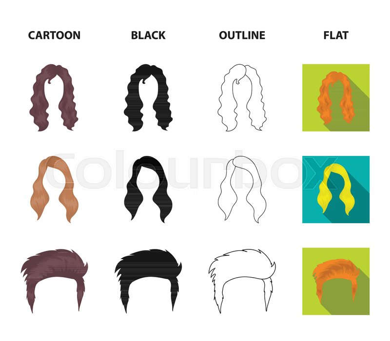 Mustache And Beard Hairstyles Stock Vector Colourbox