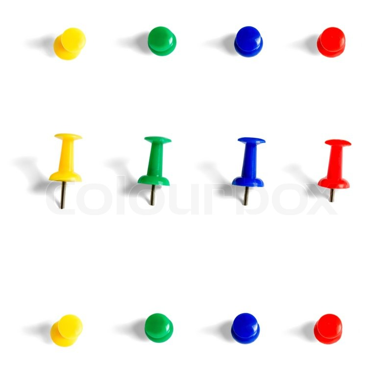 push pins collection objects isolated on white background paper clip clipart png paper clip clipart