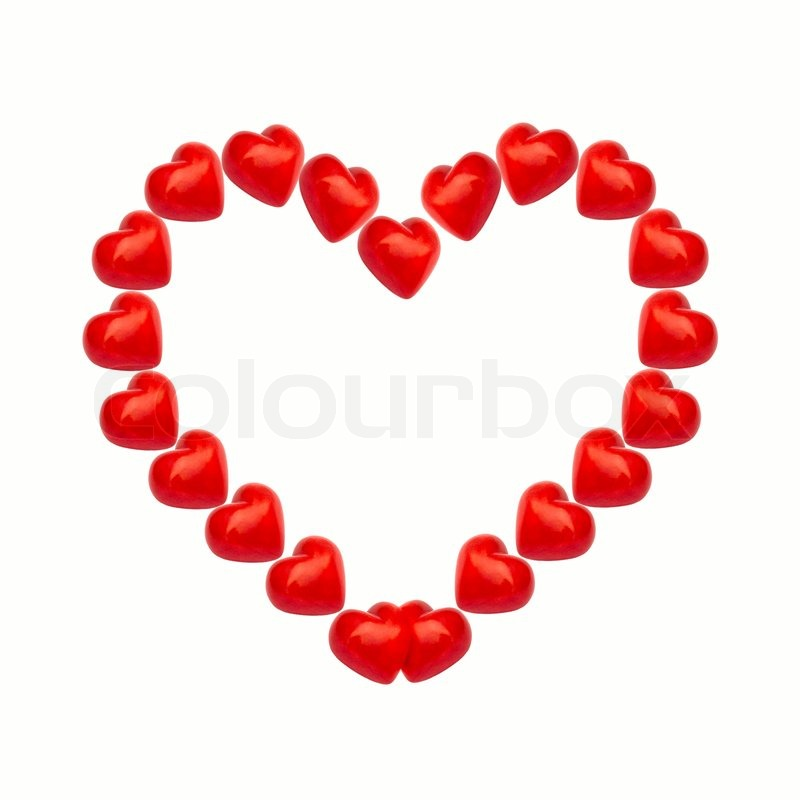 Heart frame with stone hearts isolated on white background | Stock ...