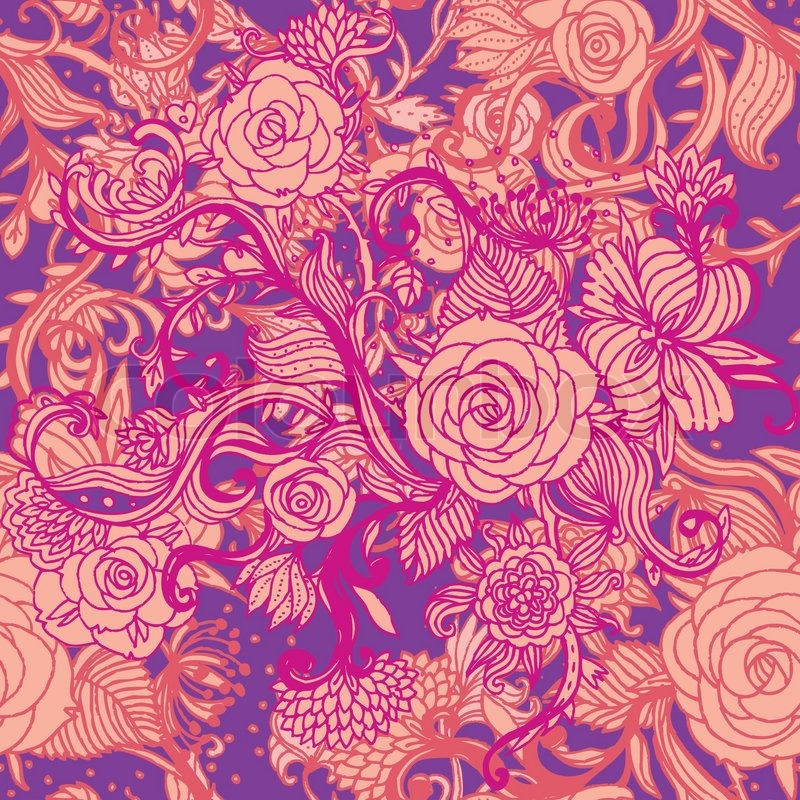 Seamless Vintage Blumenmuster, Floral Vector
